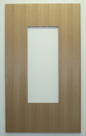 2006 Sliced Pacific maple panels & cardboard 174 x 102 x 3.5cm