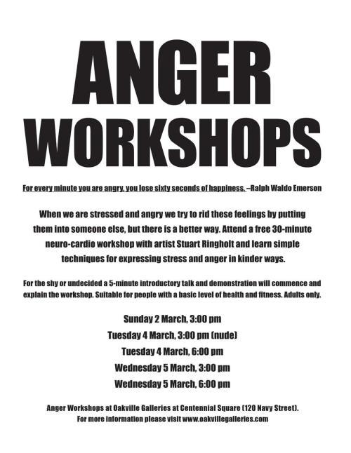 Anger Workshops flier