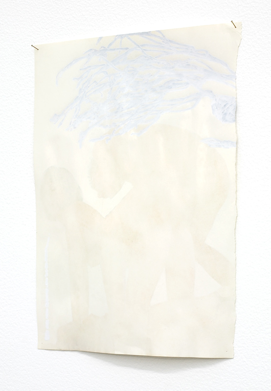 Compress (pit of doublivores), 2006:7 works on paper drawn under the pressure of erasing other images, then corrected ink, correction fluid, magazine page, plus pins approximately 310 x 210mm