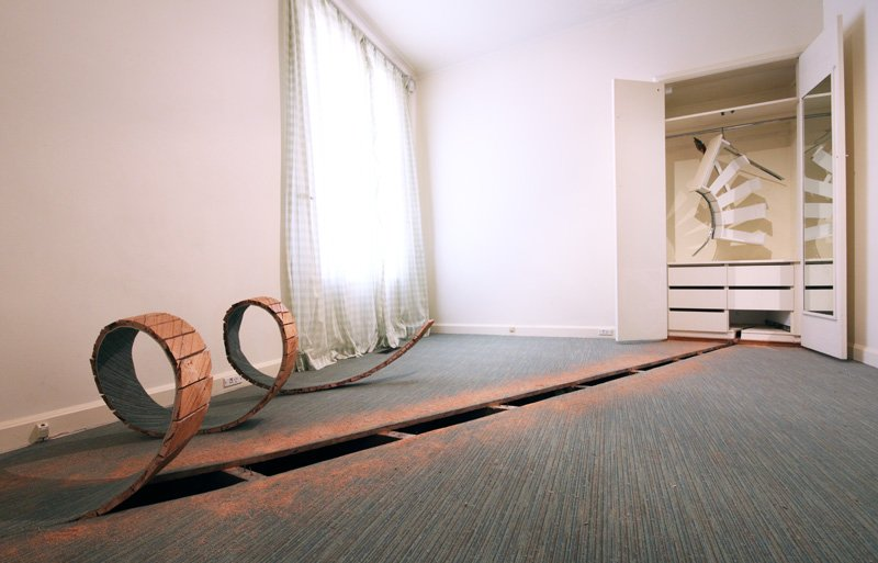 Drawn Bedroom - Decommissioned house - South Yarra 2010