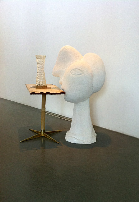 Effigy of an Effigy with Mirage, 2010 cast pigmented polyurethane resin, fiberglass and pewter with pigment 132 × 104.8 × 83.8cm