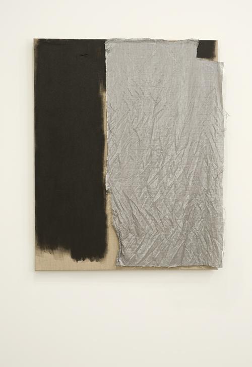 Elizabeth Newman, 'Untitled', 2012, oil and fabric on canvas. Photo- John Brash