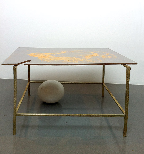 Hany Armanious Happiness, 2010 cast pigmented polyurethane resin and pewter with pigment 70 × 109.5 × 73.7cm