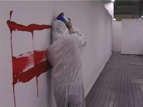 Head-Painting (Asbestos Tracking in Hi Red Center 1972),1998