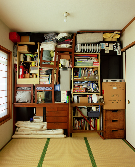Installation, 2005, enitre found objects within artist residency in Tokyo