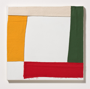 LOL 2010 Fabric on primed linen 63 x 65 cm