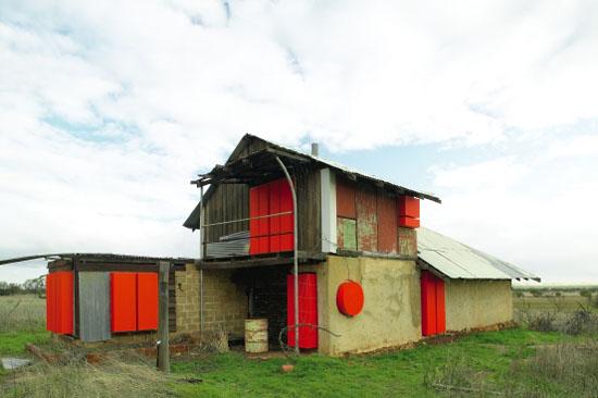 maintenance,  2004, materials- derelict house, mdf, paint. photograph by Robert Firth.