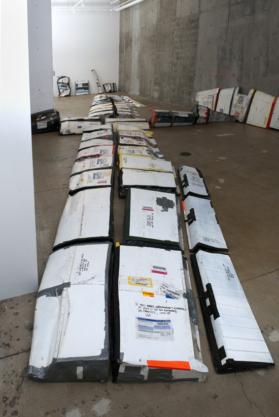par_avion, 2011, Cessna 172, deconstructed and airmailed from Roma to San Francisco.