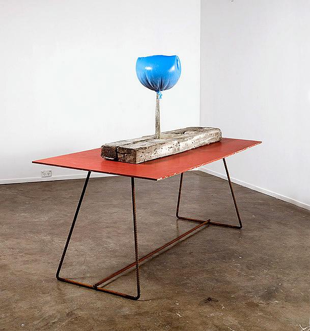 Sphinx, 2008 Cast polyurethane, latex, pewter, plywood, steel 140 × 180 × 90cm