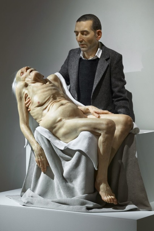 still-life-pieta-2007-silicon-paint-human-hair-160-x-123-cm