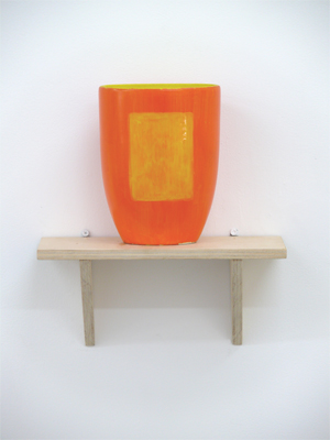Untitled 2003 - 5 Oil on found vase 19 x 14.5 x 10.5 cm