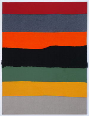 Untitled 2009 Wool, synthetic fabric, cotton and linen