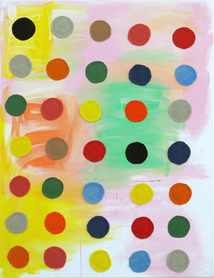 Untitled (Spots) 2011 Oil and felt on linen