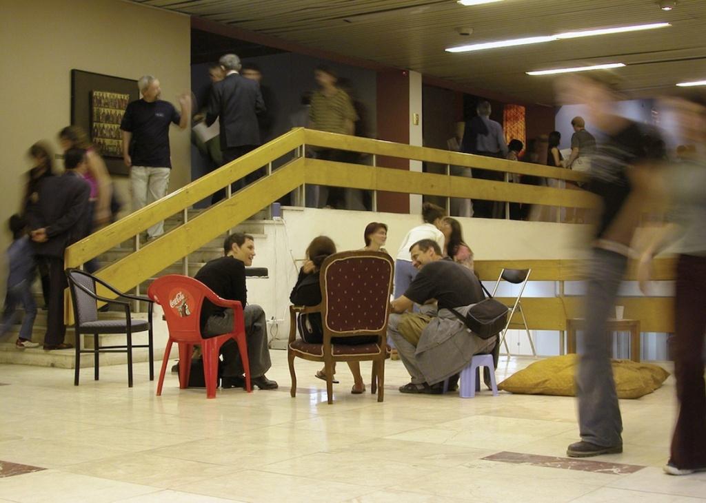 Circle of Chairs 2003, borrowed chairs (Tirana Biennale)