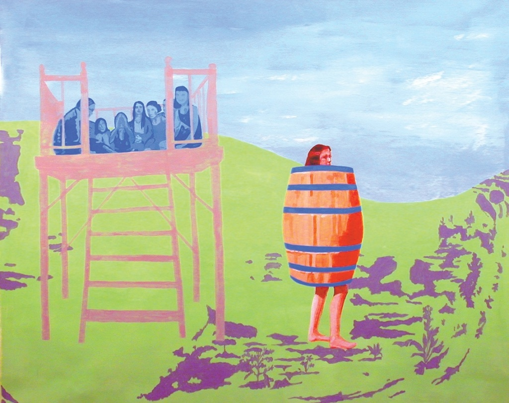 Fresh History Paintings, La Gruccia e il Barile 2002–4, acrylic on canvas