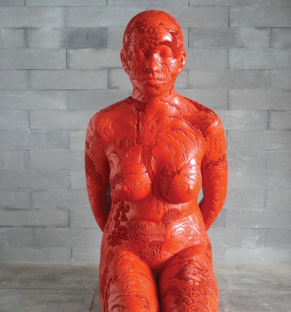 Red kneeling web