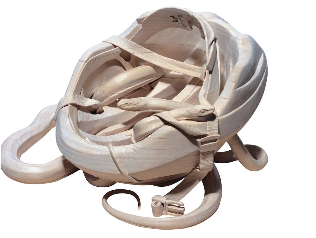 Snake helmet web